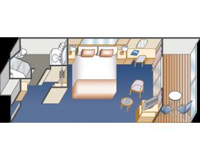 藍寶石公主號 - 陽台艙的平面圖