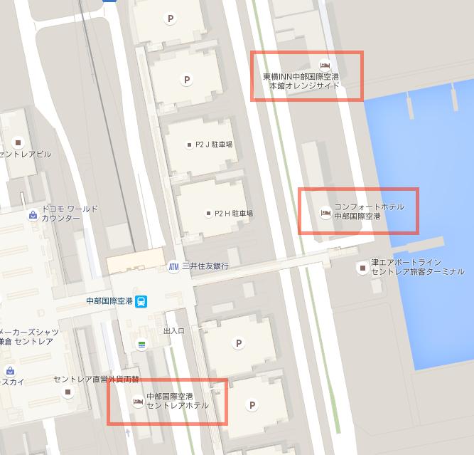 機場飯店相對位置圖