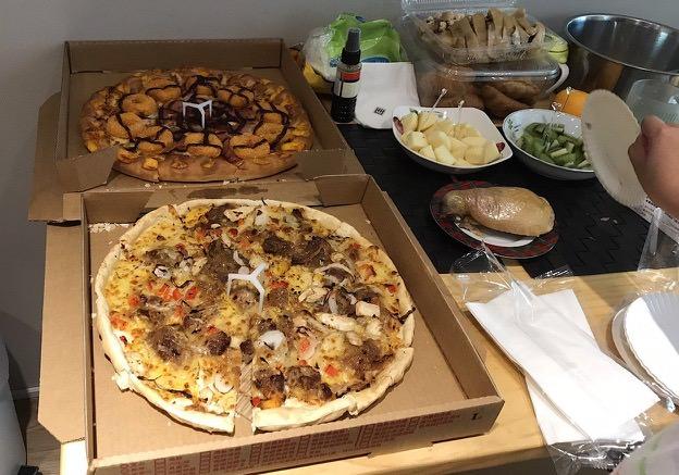 Pizza 和 鹽水雞