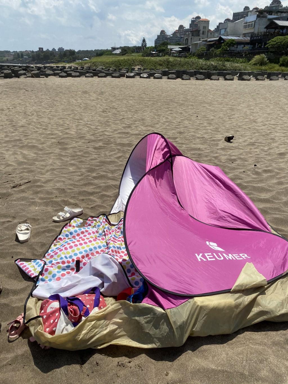 北海岸三芝淺水灣沙灘玩水